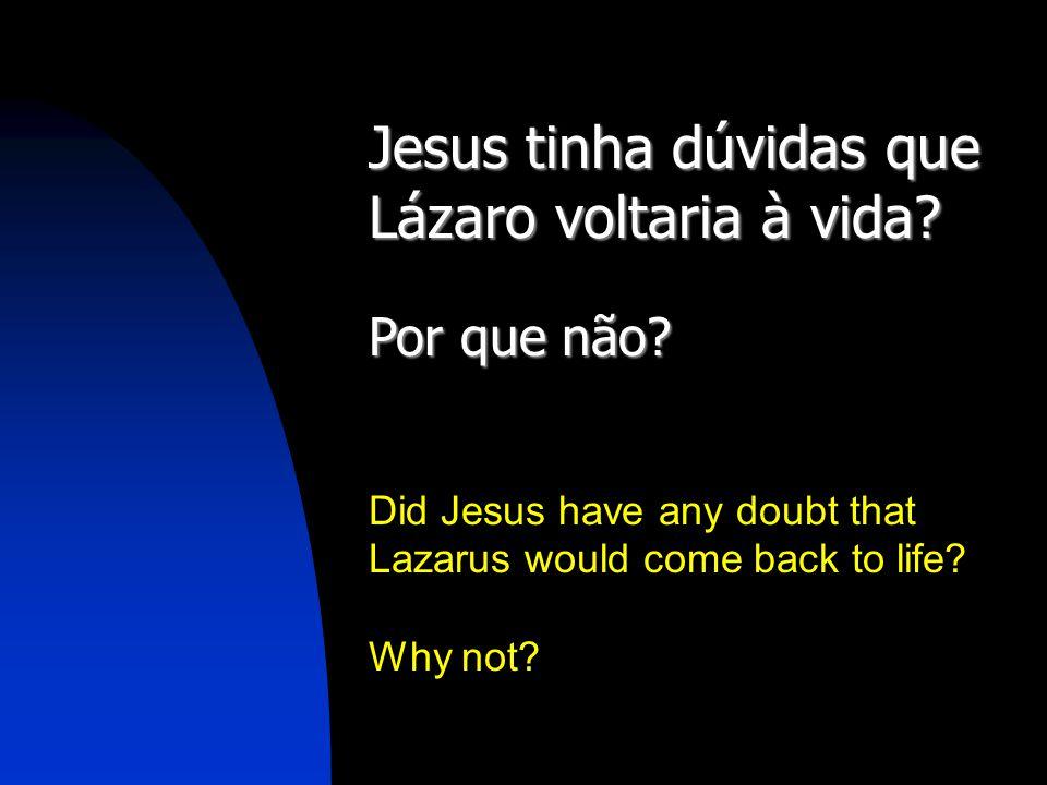 Jesus tinha dúvidas que Lázaro voltaria à vida