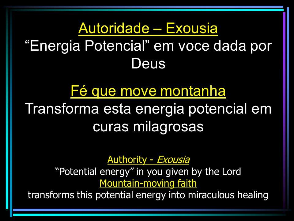 Energia Potencial em voce dada por Deus