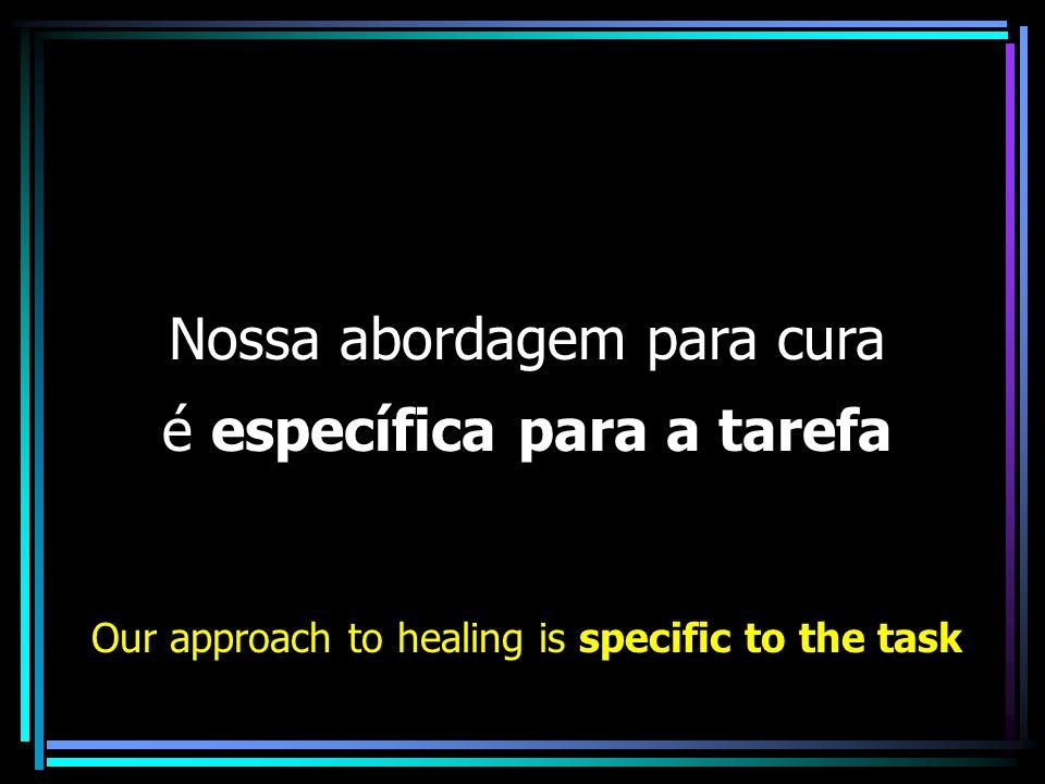 Nossa abordagem para cura é específica para a tarefa