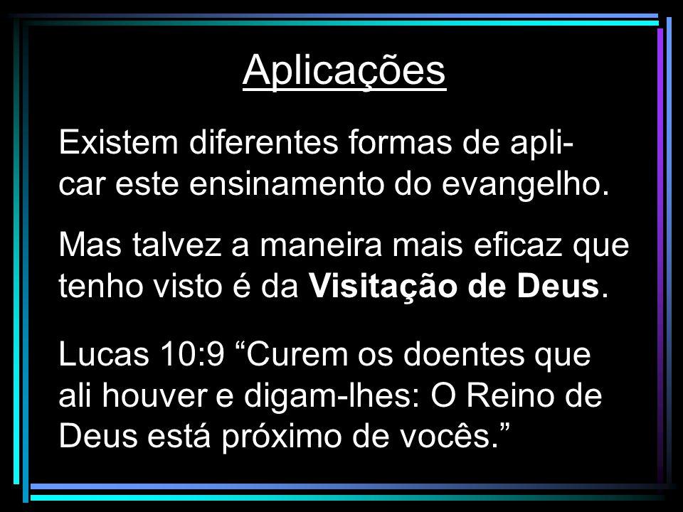 Aplicações Existem diferentes formas de apli-car este ensinamento do evangelho.