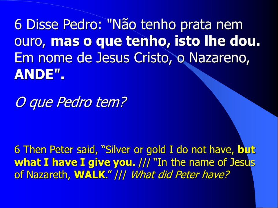 Em nome de Jesus Cristo, o Nazareno, ANDE .