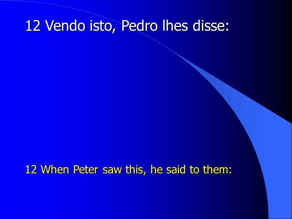 12 Vendo isto, Pedro lhes disse: