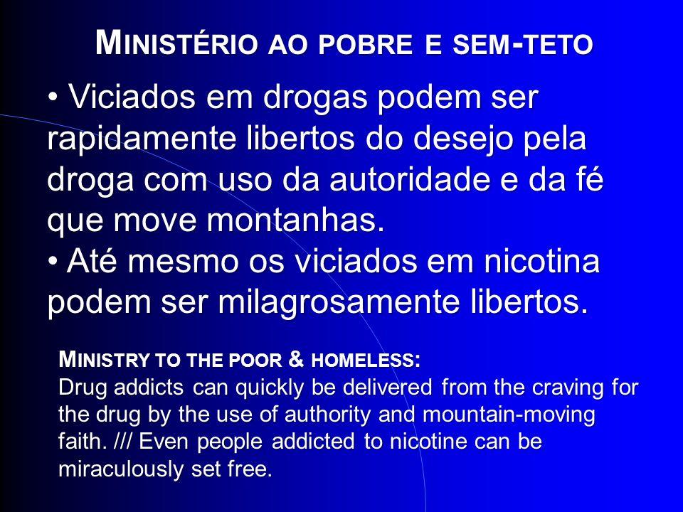 Ministério ao pobre e sem-teto