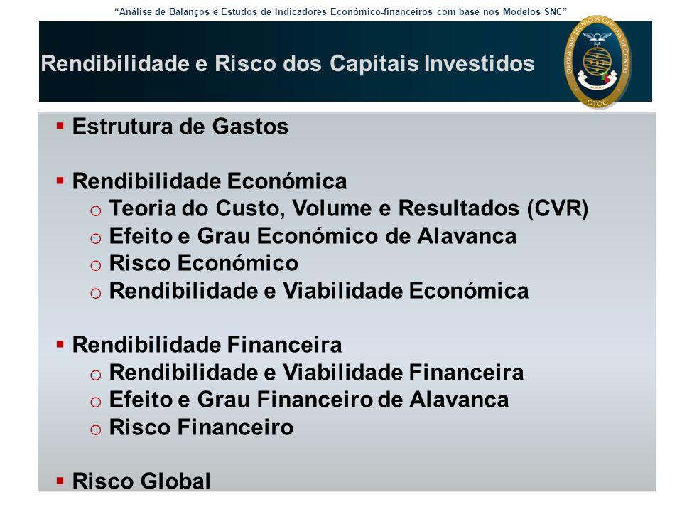 Rendibilidade e Risco dos Capitais Investidos