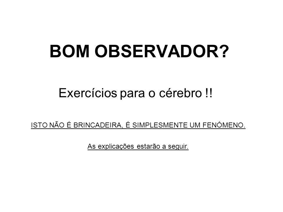 Exercícios para o cérebro !!