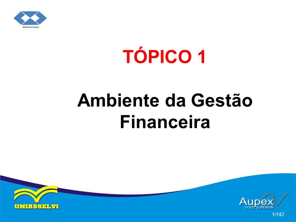TÓPICO 1 Ambiente da Gestão Financeira