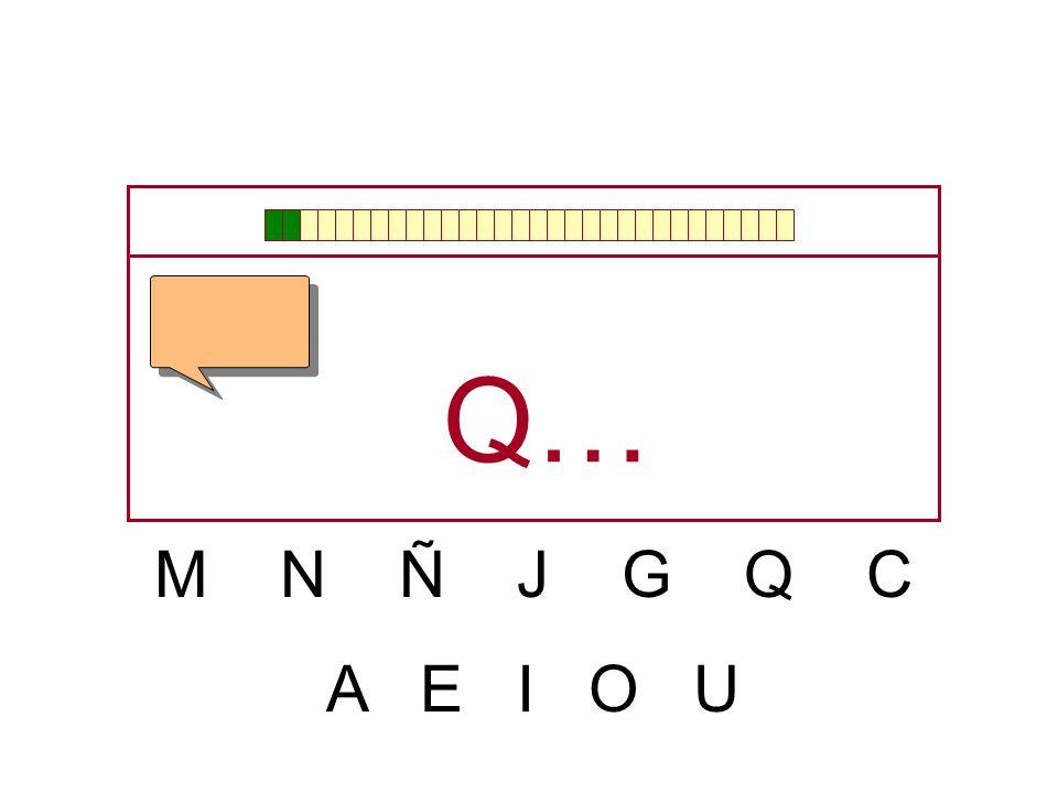 Q… M N Ñ J G Q C A E I O U