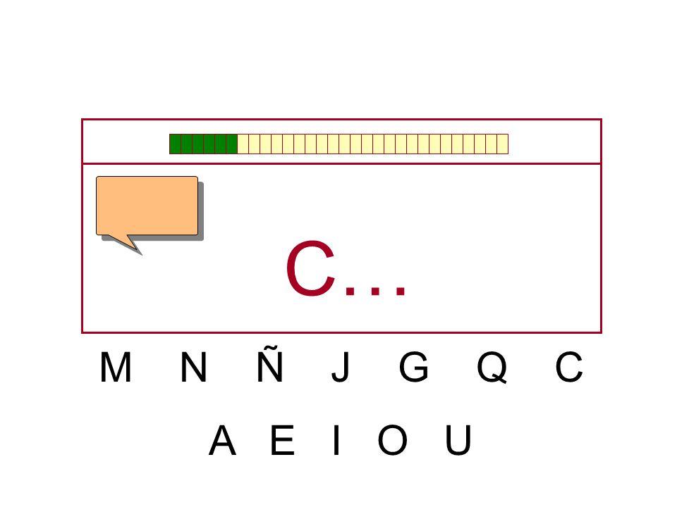 C… M N Ñ J G Q C A E I O U