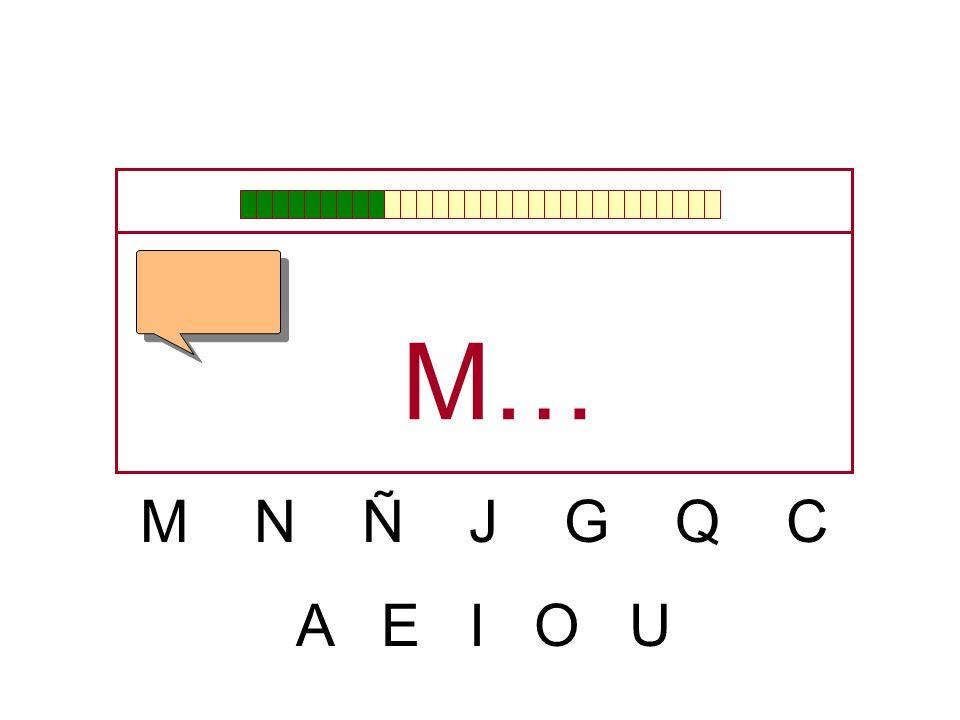 M… M N Ñ J G Q C A E I O U