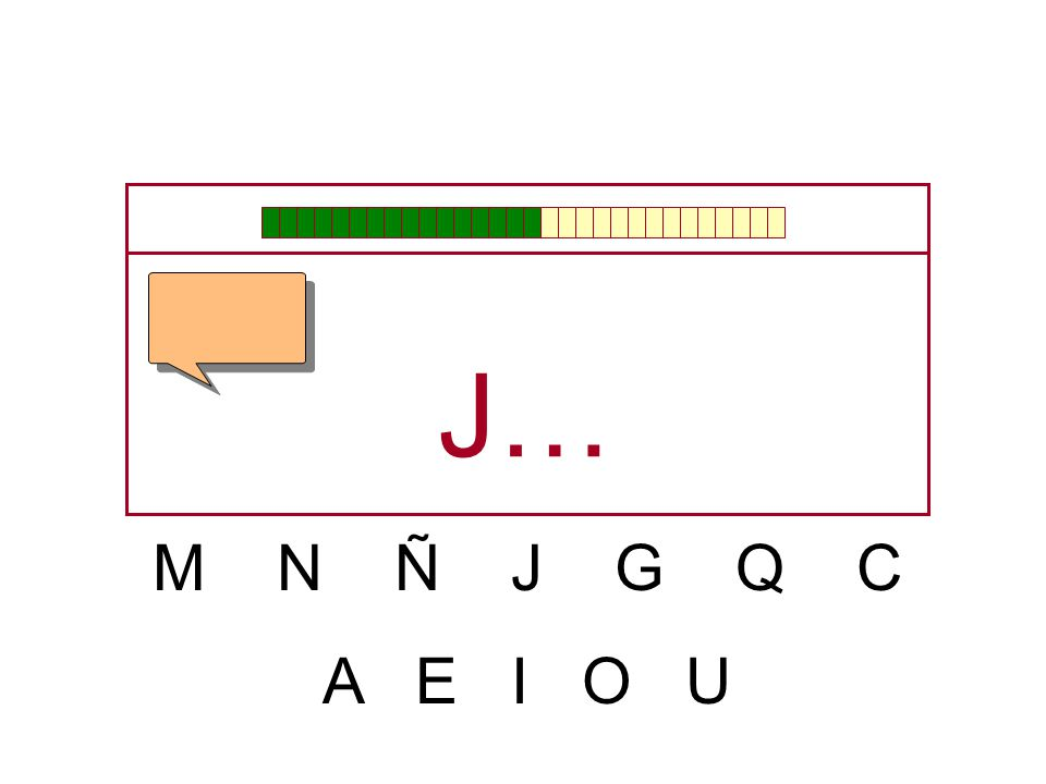 J… M N Ñ J G Q C A E I O U