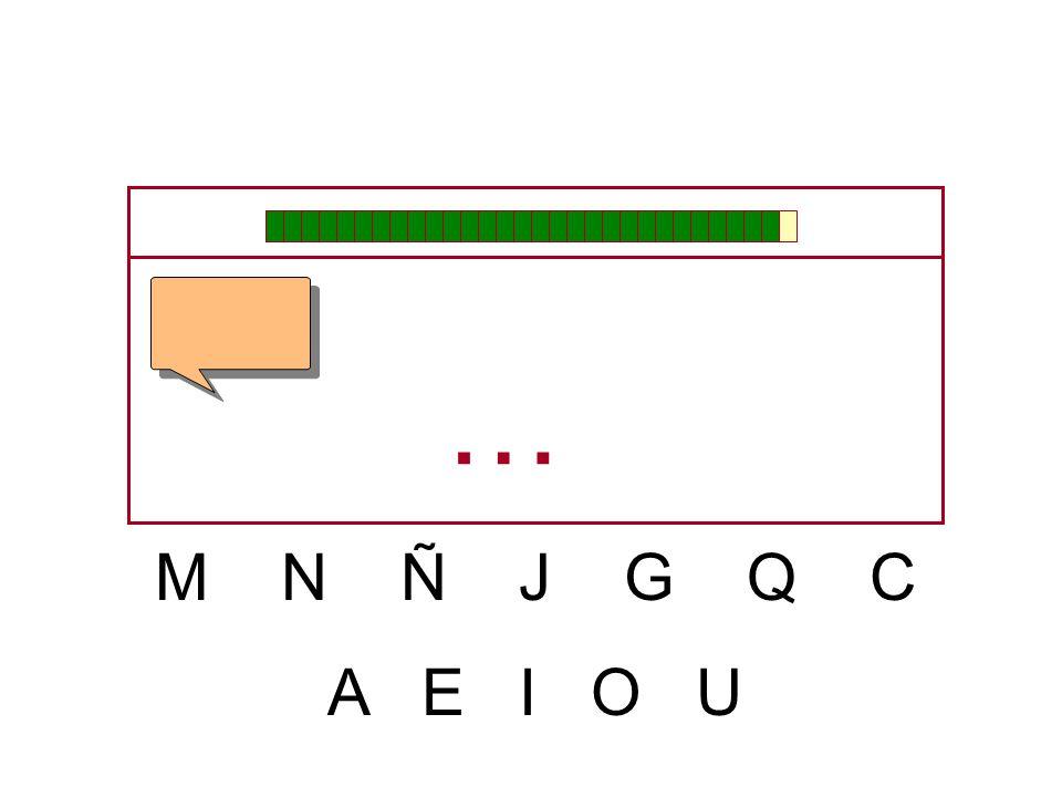 … M N Ñ J G Q C A E I O U