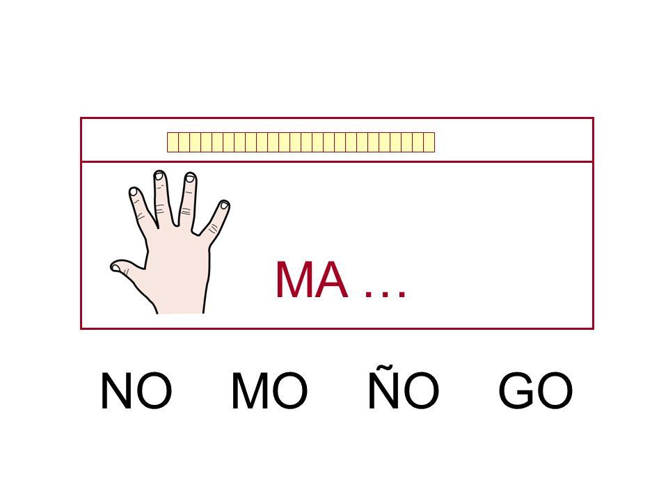 MA … NO MO ÑO GO