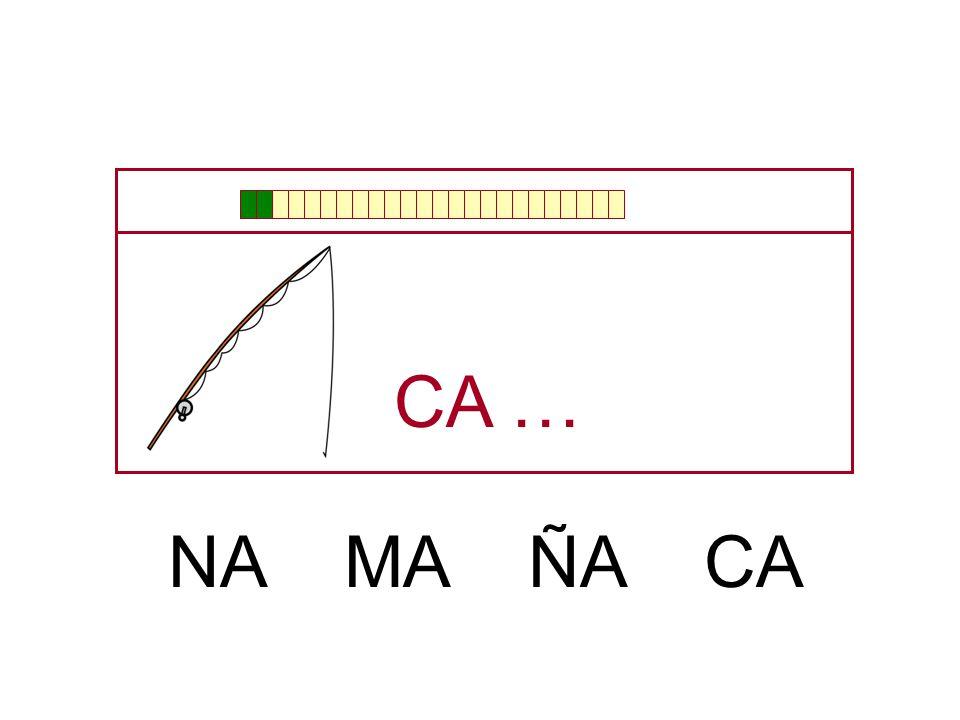 CA … NA MA ÑA CA