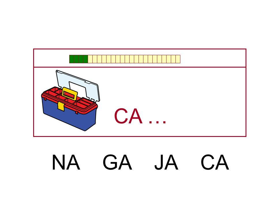 CA … NA GA JA CA