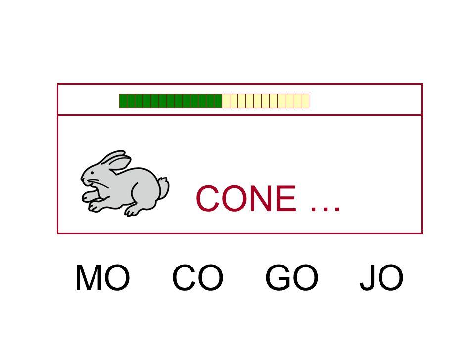 CONE … MO CO GO JO
