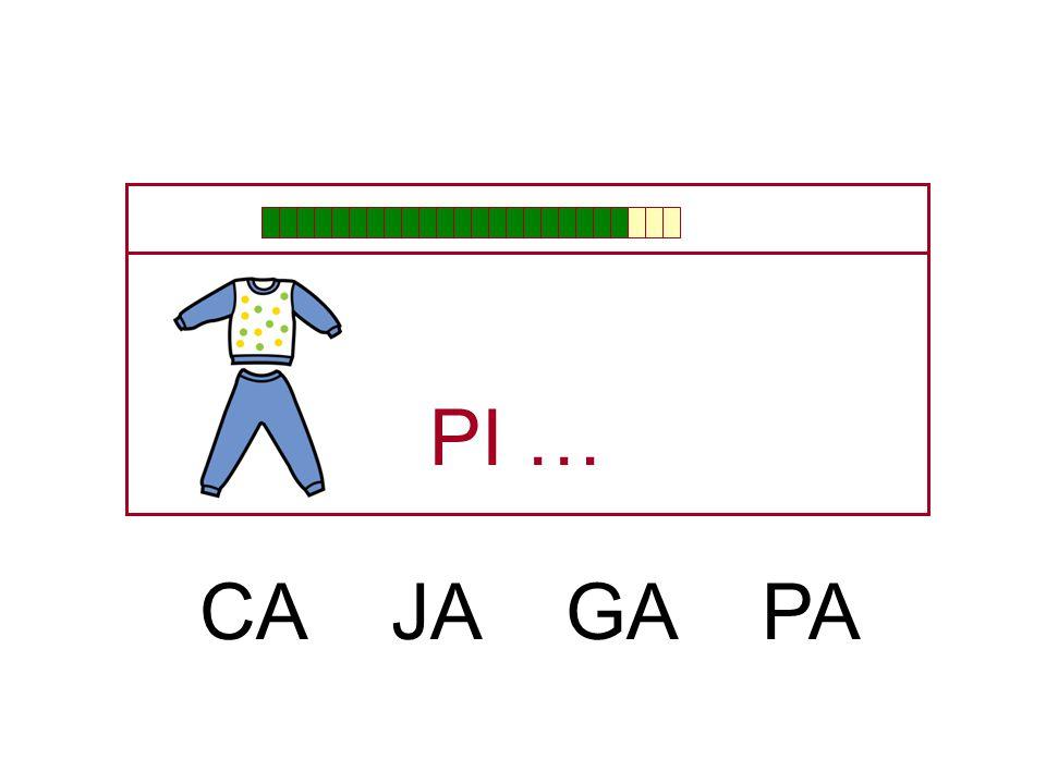 PI … CA JA GA PA