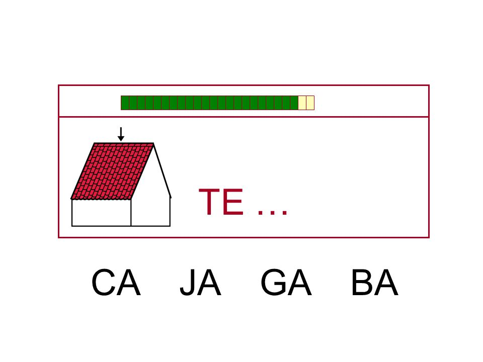 TE … CA JA GA BA