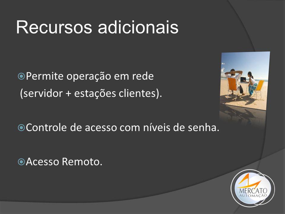 Recursos adicionais Permite operação em rede