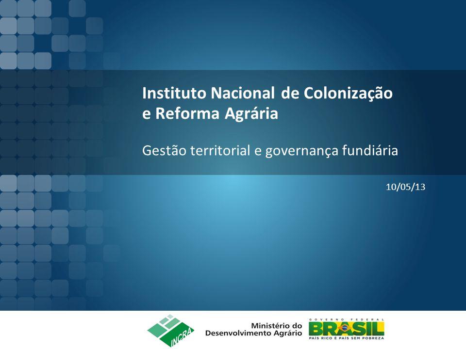 Instituto Nacional de Colonização e Reforma Agrária Gestão territorial e governança fundiária