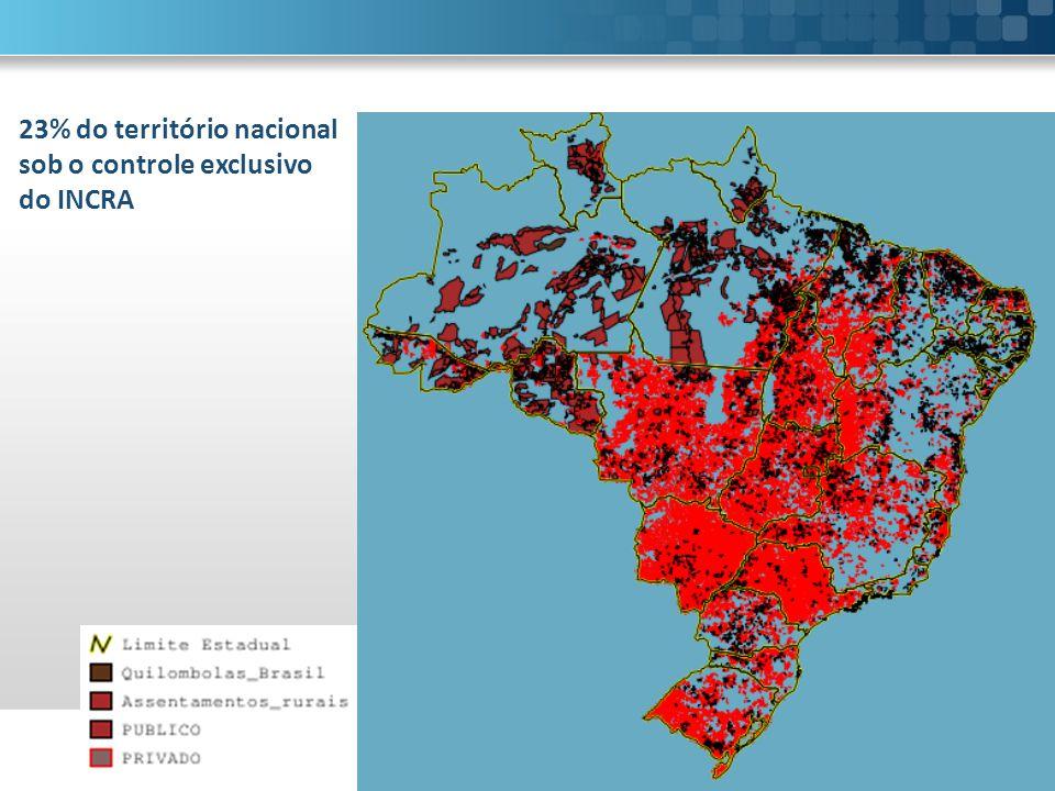 23% do território nacional