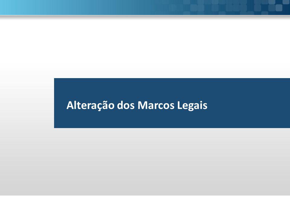Alteração dos Marcos Legais