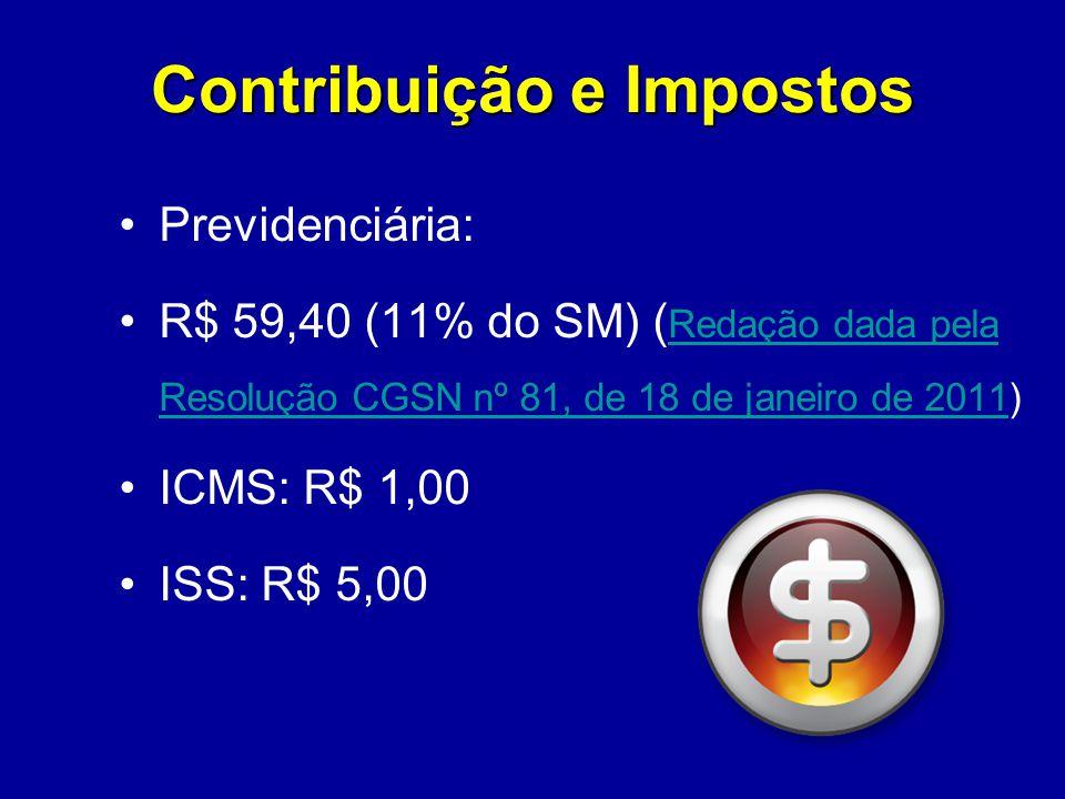 Contribuição e Impostos