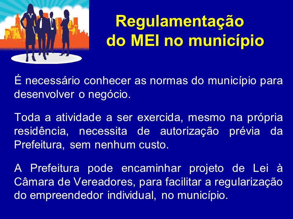 Regulamentação do MEI no município