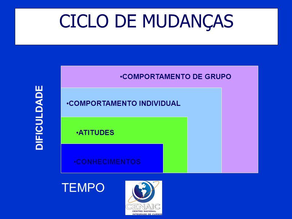 CICLO DE MUDANÇAS TEMPO DIFICULDADE COMPORTAMENTO DE GRUPO