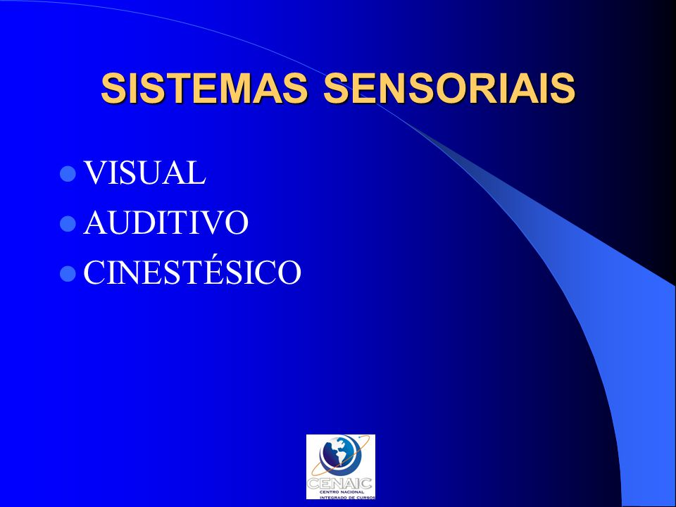 SISTEMAS SENSORIAIS VISUAL AUDITIVO CINESTÉSICO