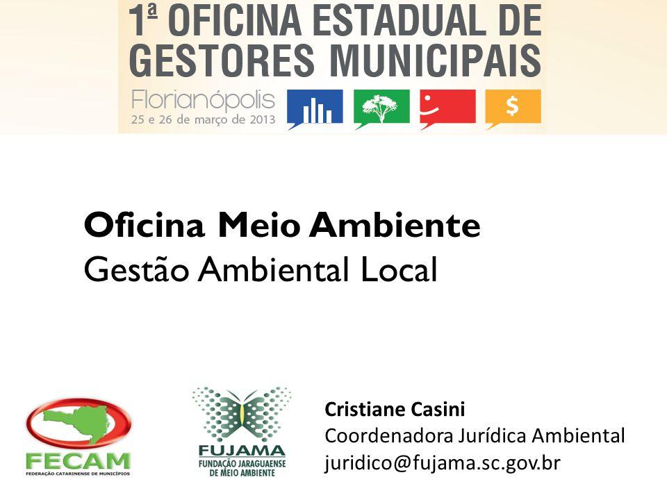 Oficina Meio Ambiente Gestão Ambiental Local