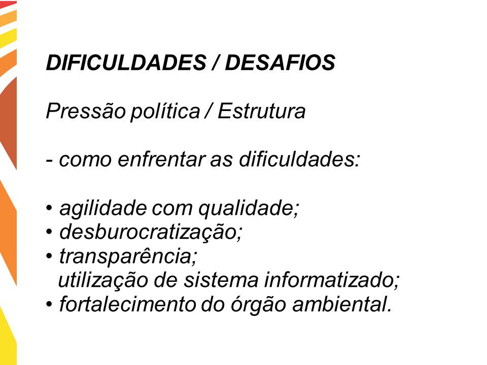 DIFICULDADES / DESAFIOS