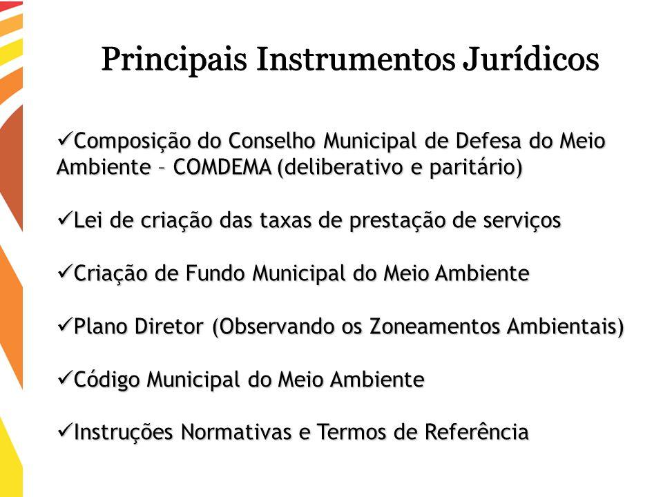Principais Instrumentos Jurídicos