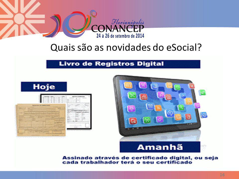 Quais são as novidades do eSocial