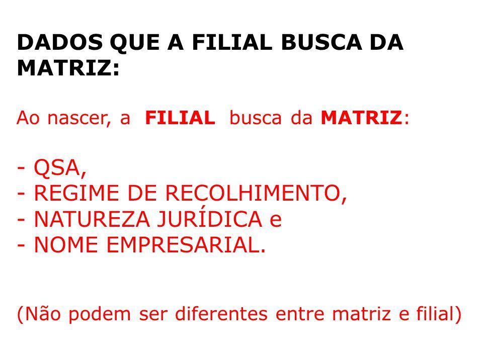 DADOS QUE A FILIAL BUSCA DA MATRIZ:
