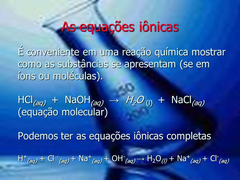 As equações iônicas