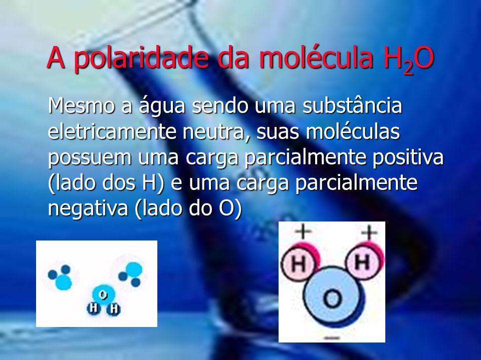 A polaridade da molécula H2O