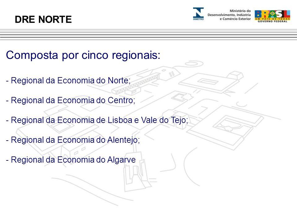 Composta por cinco regionais: