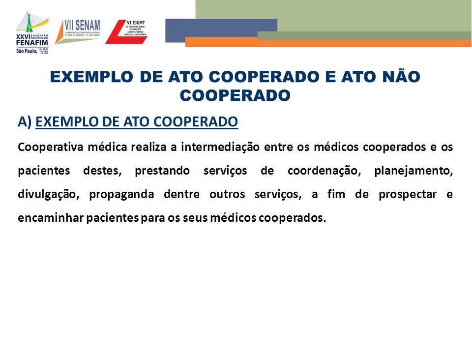 EXEMPLO DE ATO COOPERADO E ATO NÃO COOPERADO