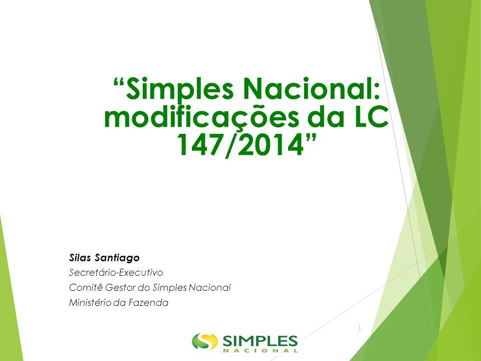 Simples Nacional: modificações da LC 147/2014