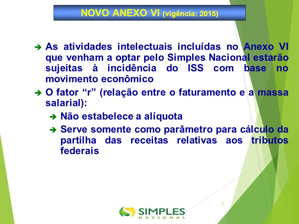 NOVO ANEXO VI (vigência: 2015)