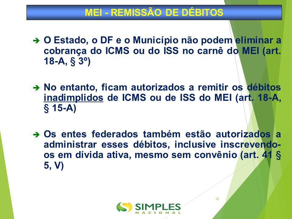 MEI - REMISSÃO DE DÉBITOS