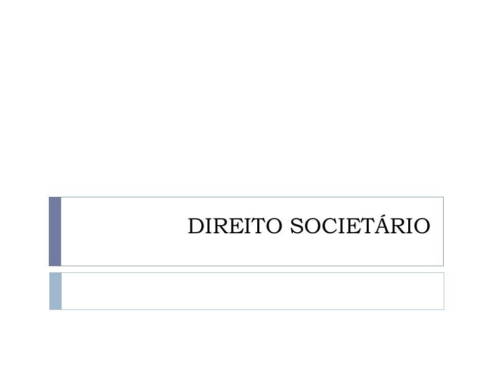 DIREITO SOCIETÁRIO