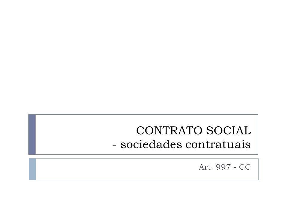 CONTRATO SOCIAL - sociedades contratuais