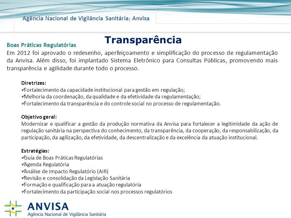 Transparência Boas Práticas Regulatórias