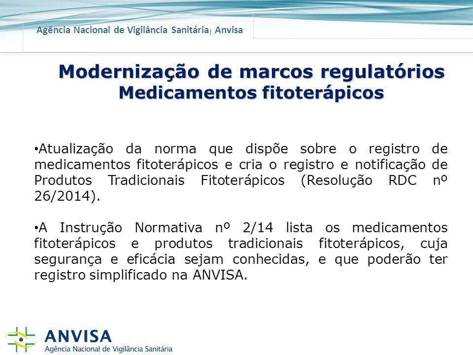Modernização de marcos regulatórios Medicamentos fitoterápicos