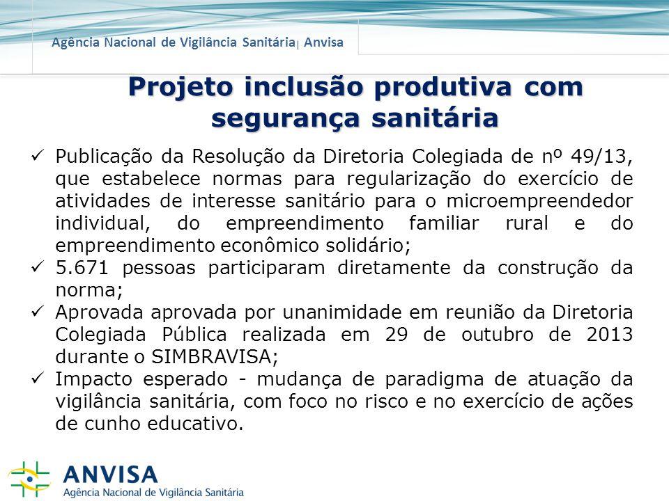 Projeto inclusão produtiva com segurança sanitária