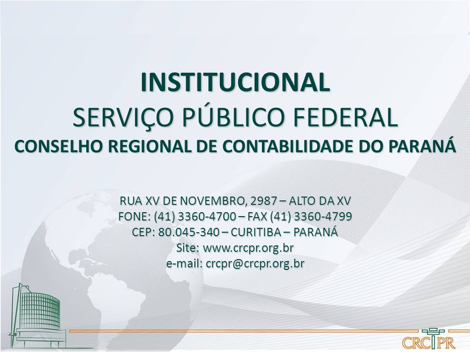 CONSELHO REGIONAL DE CONTABILIDADE DO PARANÁ