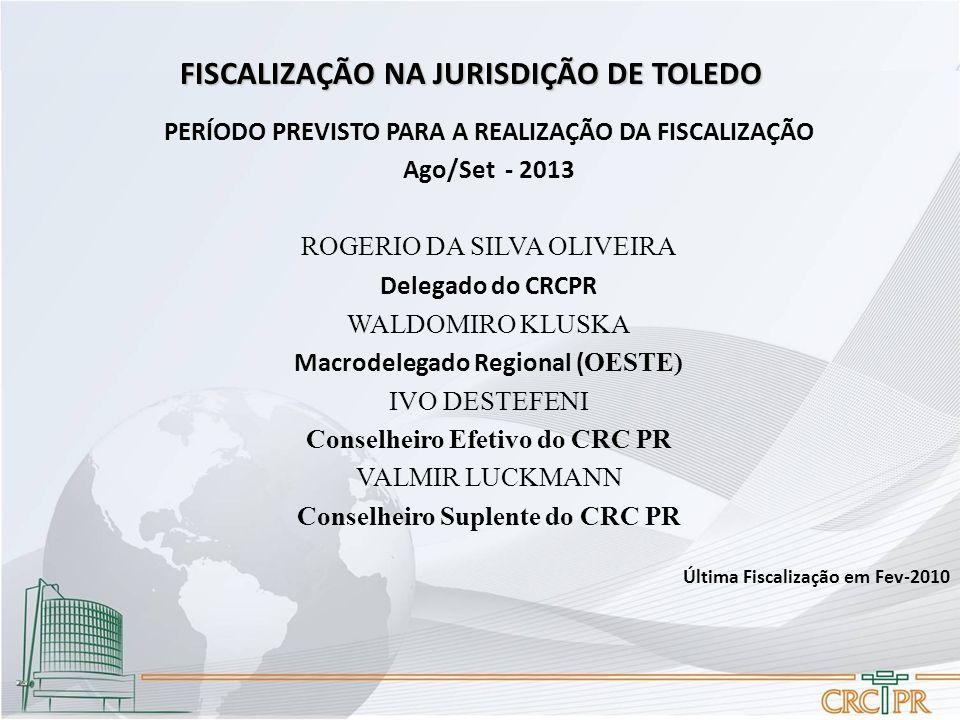 FISCALIZAÇÃO NA JURISDIÇÃO DE TOLEDO