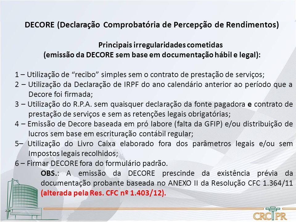 DECORE (Declaração Comprobatória de Percepção de Rendimentos)