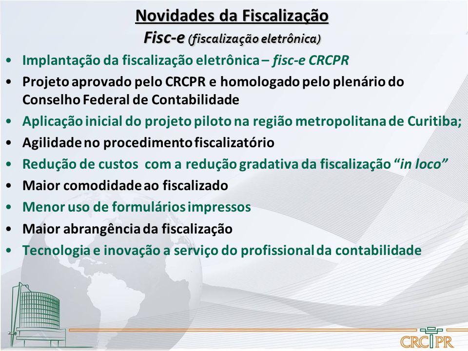 Novidades da Fiscalização Fisc-e (fiscalização eletrônica)